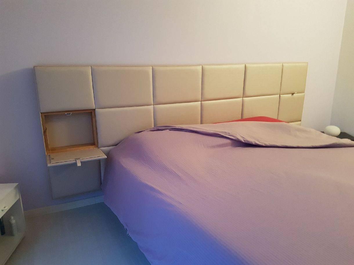 Lit Avec Tete De Lit Matelassé tête de lit capitonnée chevets intégrés - fabricant de